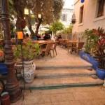 מלון בוטיק טמפלרס חיפה- רחבת בית הקפה מסעדה -פטוש