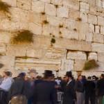 הכותל המערבי-מאות מתפללים.